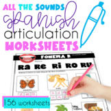 All The Sounds Spanish Articulation Worksheets for Speech Therapy