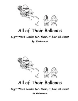 Sight Word Reader - all, their, if, how, shout