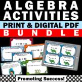 All Things Algebra BUNDLE Algebraic Expressions Word Problems Digital Activities