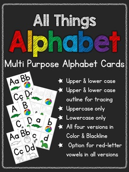 All Things Alphabet: Multipurpose Alphabet Cards (8 versions)