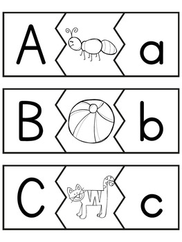 All Things Alphabet: Upper and Lower Case Letter Matching Puzzles
