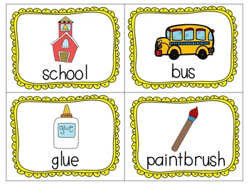 All Things Back to School Literacy Print and Go Activities