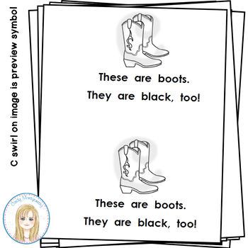 All Things Black Color Words Emergent Reader