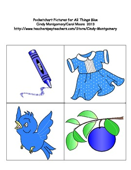 All Things Blue Pocketchart Pictures (color version)