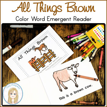 All Things Brown Color Words Emergent Reader