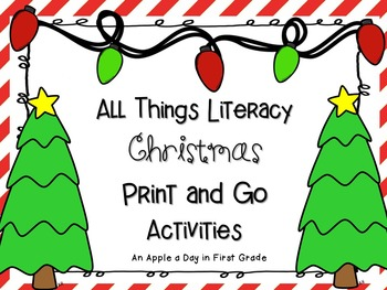 All Things Christmas Literacy Print and Go Activities