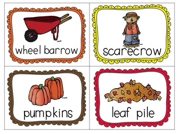 All Things Fall Literacy Print and Go Activities