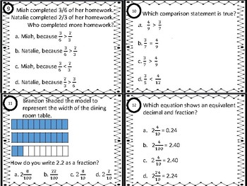 All Things Fractions Task Cards