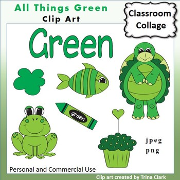 Green Things Clip Art Color personal & commercial use by ...