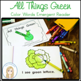 All Things Green Book: Color Word Emergent Reader