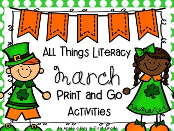 All Things March Literacy Print and Go