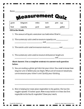 All Things Measurement-3rd Grade!