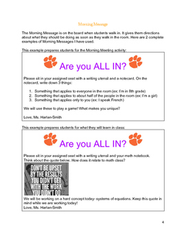 All Things Morning Meeting: Morning Meetings for Secondary Students