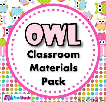 All Things Owls Classroom Resources Mega Bundle