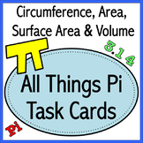 All Things Pi Task Cards (Stations)