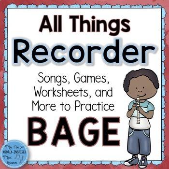 Recorder Bundle: All Things BAGE
