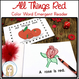 All Things Red Book: Color Word Emergent Reader