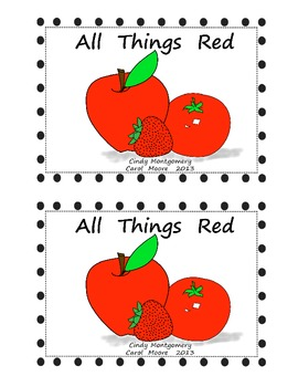All Things Red Color Words Emergent Reader (Color Version)