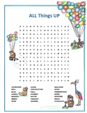 All Things Up Movie Word Search Activity
