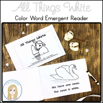 All Things White Color Words Emergent Reader