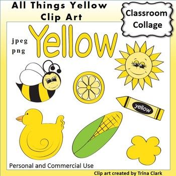 Yellow Things Clip Art Color Personal Commercial Use