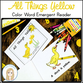 All Things Yellow Book: Color Word Emergent Reader