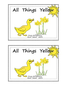 All Things Yellow Emergent Reader (color version)