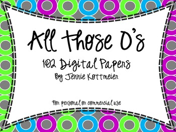 All Those O's (102 Digital Background Papers)