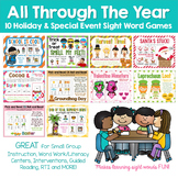 All Through The Year DOLCH SIGHT WORD GAMES Bundle:  10 Games - 290 Pages In ALL