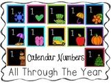 All Through the Year Calendar Cards Black Background