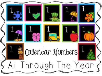 All Through the Year Calendar Cards Black Background