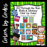 All Through the Year: Math & Literacy Color by Codes