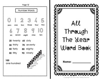 All Through the Year Word Book