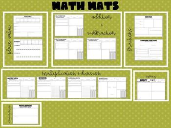 All Topics Math Mats - Growing Bundle