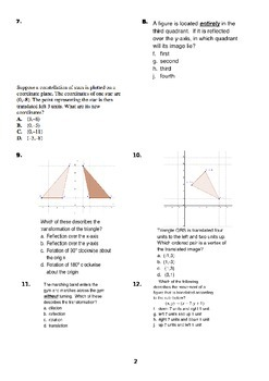 All Transformations Test (translation, rotation, reflection, and dilation)
