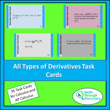 All Types of Derivatives Task Cards