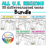 United States Tests Bundle for States, Capitals, Abbreviat