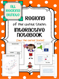 All US Regions Interactive Notebook Bundle