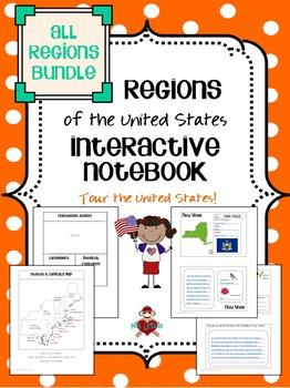 All US Regions Interactive Notebook Bundle
