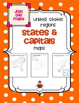 All US Regions States & Capitals Maps Only by MrsLeFave | TpT