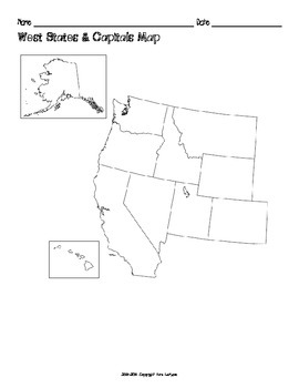 All US Regions States & Capitals Maps Only