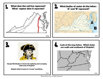All Virginia Studies Task Cards (VS.2-VS.10)