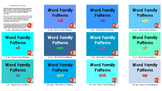 All Word Family Patterns - 80 PowerPoint Presentations