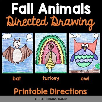 All Year Animals - Directed Drawing Bundle - Fall, Winter, Spring, Summer