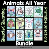 All Year Animals - Directed Drawing Bundle - Fall, Winter,