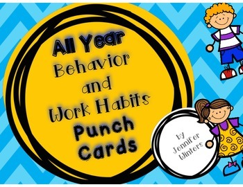 All Year Behavior and Work Habits Punch Cards
