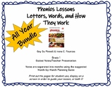 All Year Bundle Phonics Lessons Pinnell and Fountas Grade 1
