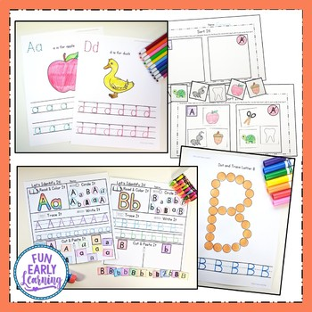 All Year Complete Worksheet Bundle - No Prep - Letters, Numbers, Shapes