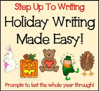 Holiday Writing Made Easy! No Prep! - Step Up To Writing