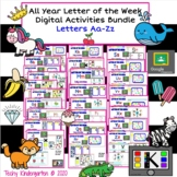 All Year Letter of the Week Digital Activities: Letters Aa